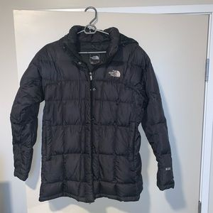 Black Northface Medium Length Coat